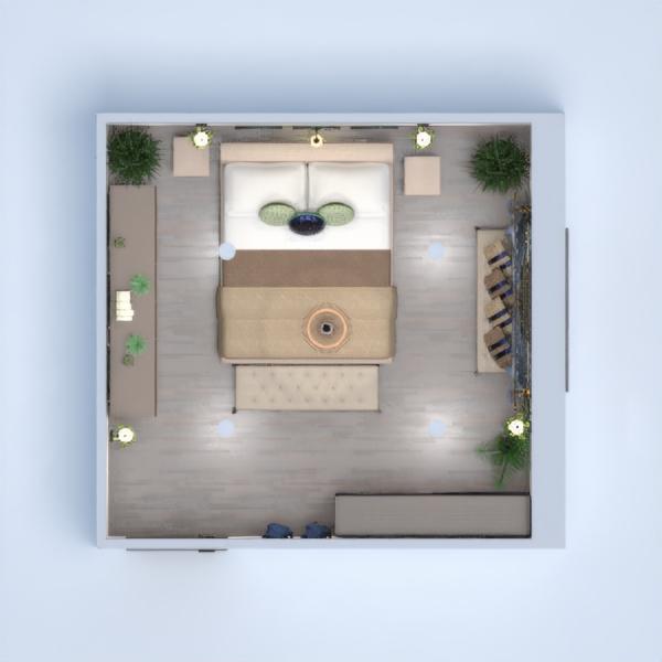 планировки дом мебель декор спальня освещение 3d