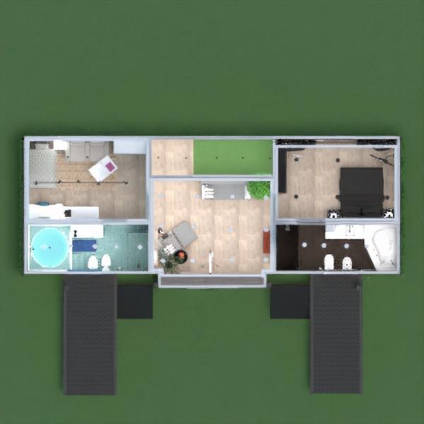floorplans namas baldai dekoras pasidaryk pats vonia miegamasis svetainė virtuvė eksterjeras valgomasis prieškambaris 3d