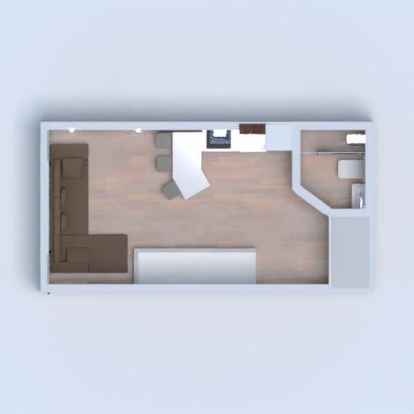 floorplans namas svetainė garažas virtuvė studija 3d