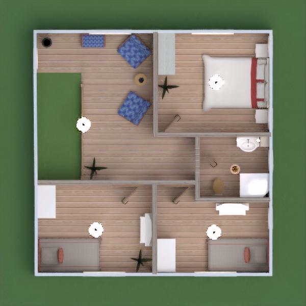 floorplans namas terasa baldai dekoras vonia miegamasis svetainė garažas virtuvė eksterjeras apšvietimas kraštovaizdis valgomasis prieškambaris 3d