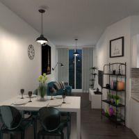 floorplans apartamento varanda inferior banheiro quarto quarto cozinha área externa sala de jantar 3d
