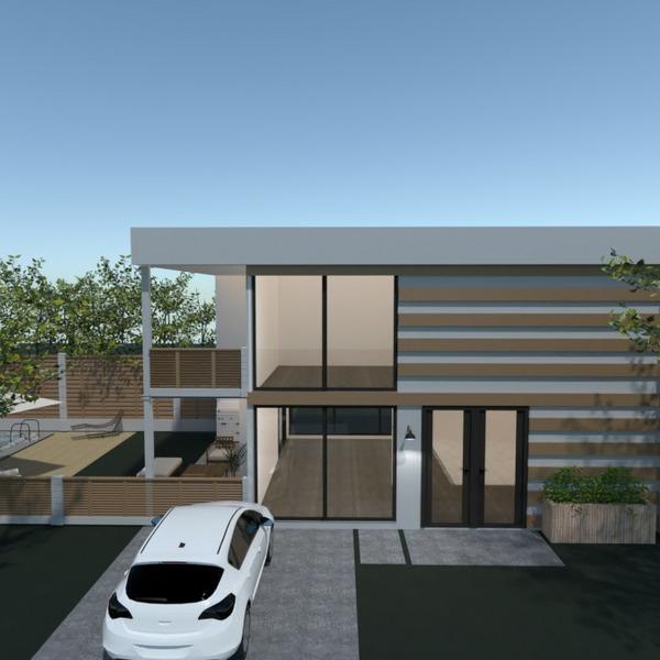 floorplans maison terrasse extérieur paysage architecture 3d