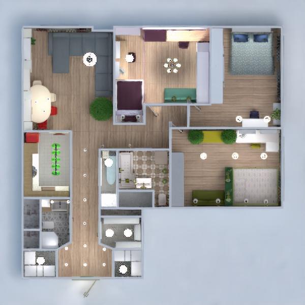 floorplans apartment bedroom kitchen renovation dining room 3d