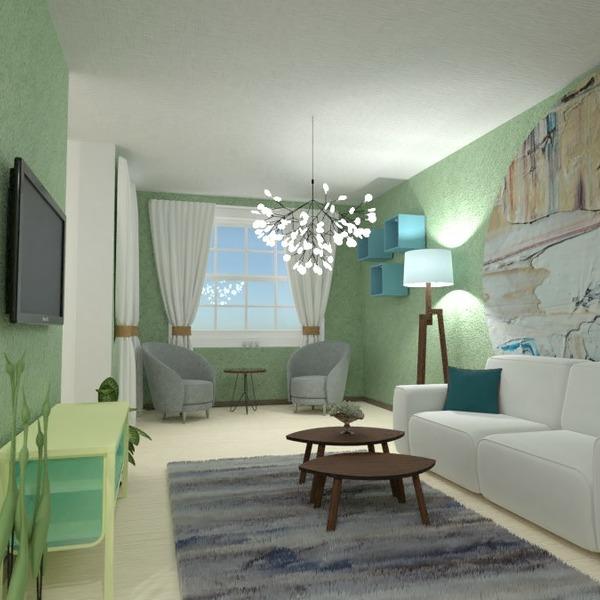 planos decoración salón cocina 3d