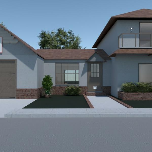 floorplans namas garažas eksterjeras аrchitektūra 3d