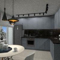 floorplans apartment furniture decor kitchen lighting dining room 3d