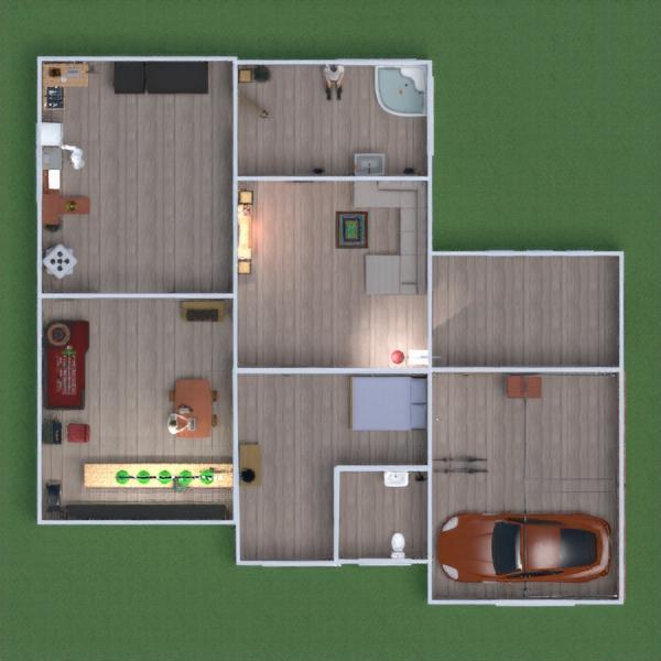floorplans furniture garage kitchen household dining room 3d