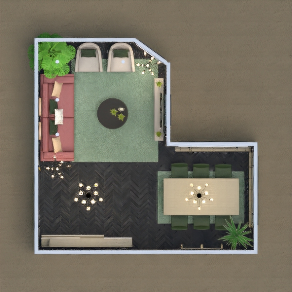 floorplans dom meble wystrój wnętrz oświetlenie jadalnia 3d