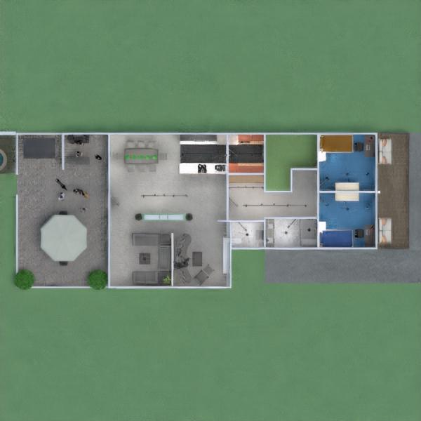 floorplans butas namas terasa baldai dekoras vonia miegamasis svetainė garažas virtuvė eksterjeras vaikų kambarys apšvietimas kraštovaizdis valgomasis аrchitektūra prieškambaris 3d