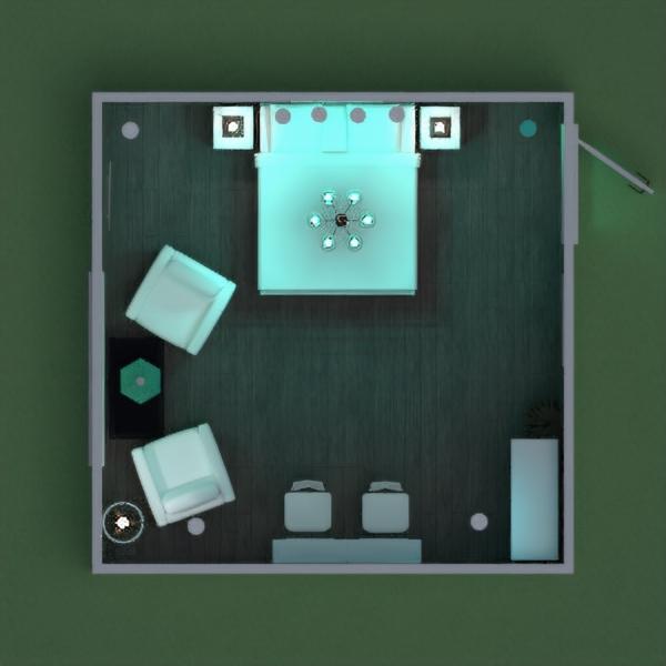 floorplans dom sypialnia oświetlenie 3d