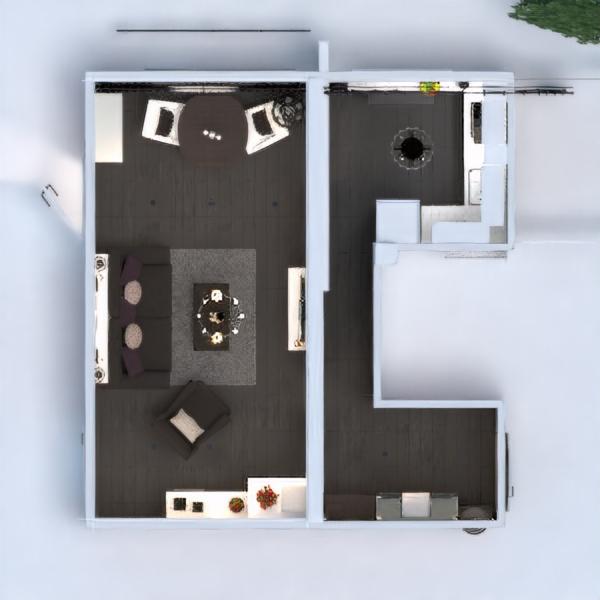 floorplans butas namas baldai dekoras svetainė virtuvė apšvietimas renovacija namų apyvoka valgomasis studija prieškambaris 3d