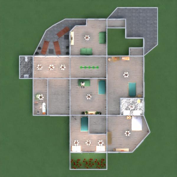 floorplans vonia miegamasis svetainė garažas virtuvė eksterjeras namų apyvoka valgomasis sandėliukas 3d