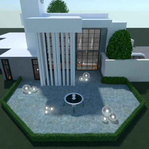 planos casa cuarto de baño dormitorio salón exterior 3d