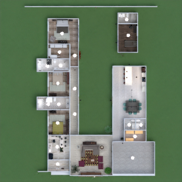 floorplans namas terasa dekoras garažas virtuvė kraštovaizdis аrchitektūra 3d