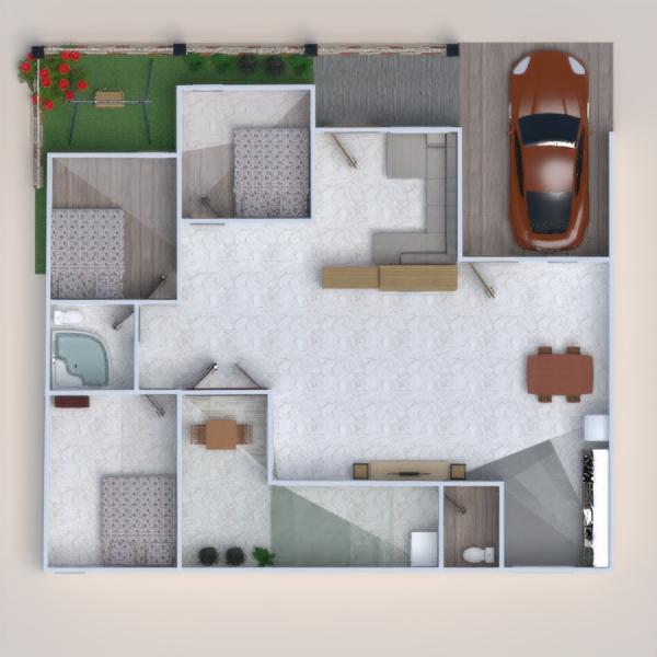 floorplans namas pasidaryk pats miegamasis garažas virtuvė 3d