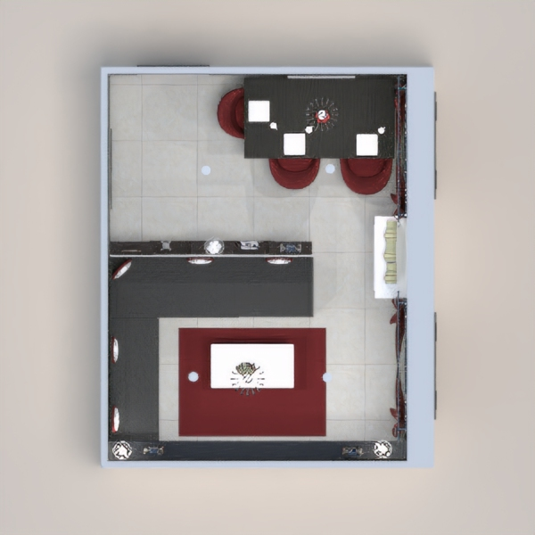 progetti casa sala pranzo 3d