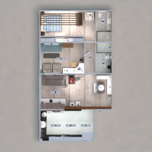floorplans wohnung mobiliar dekor küche beleuchtung haushalt café esszimmer architektur lagerraum, abstellraum studio eingang 3d