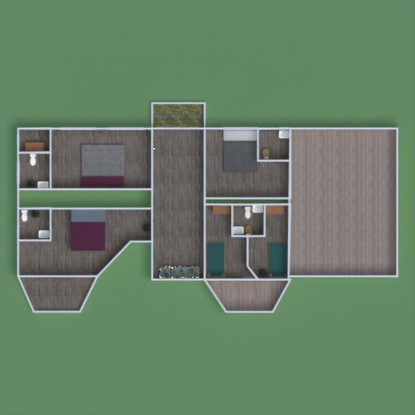 floorplans house furniture garage kitchen kids room 3d