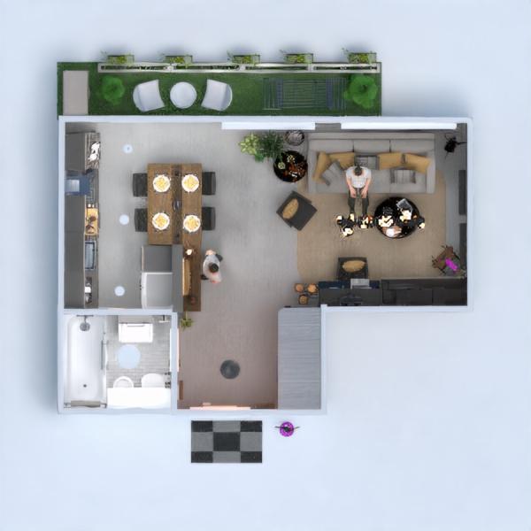 floorplans apartamento mobílias decoração iluminação estúdio 3d