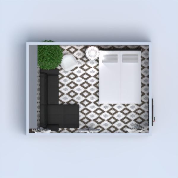floorplans butas namas dekoras miegamasis svetainė apšvietimas 3d