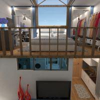 floorplans apartamento mobílias decoração banheiro quarto quarto cozinha área externa paisagismo sala de jantar 3d