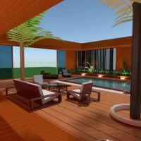 floorplans casa varanda inferior mobílias banheiro quarto quarto cozinha iluminação sala de jantar arquitetura 3d