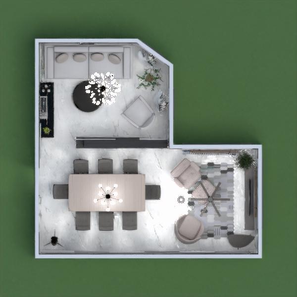 floorplans living room dining room 3d