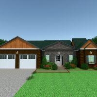 floorplans namas vonia garažas kraštovaizdis prieškambaris 3d