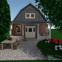 floorplans house furniture outdoor architecture entryway 3d