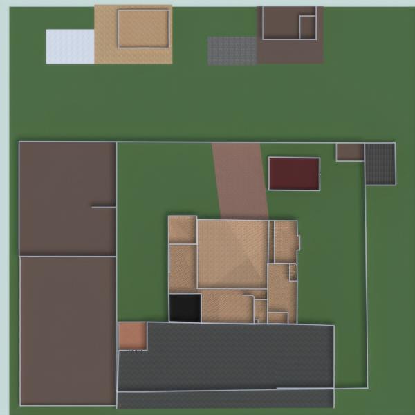 floorplans garažas virtuvė eksterjeras biuras valgomasis 3d