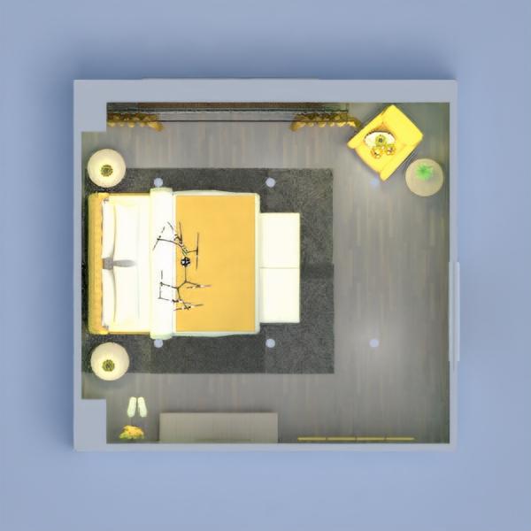планировки спальня освещение 3d