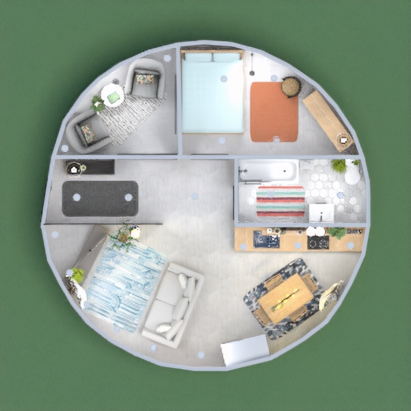 floorplans apartment bathroom bedroom living room dining room 3d