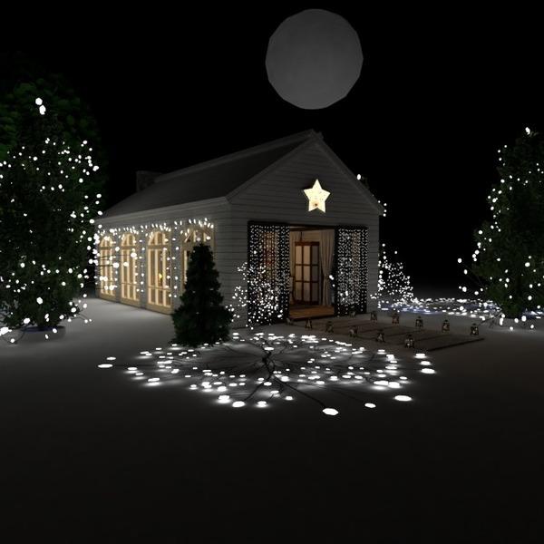 planos decoración salón exterior iluminación comedor 3d