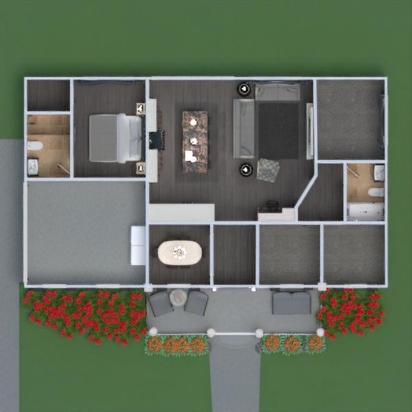 floorplans namas baldai dekoras svetainė virtuvė eksterjeras renovacija namų apyvoka valgomasis аrchitektūra prieškambaris 3d