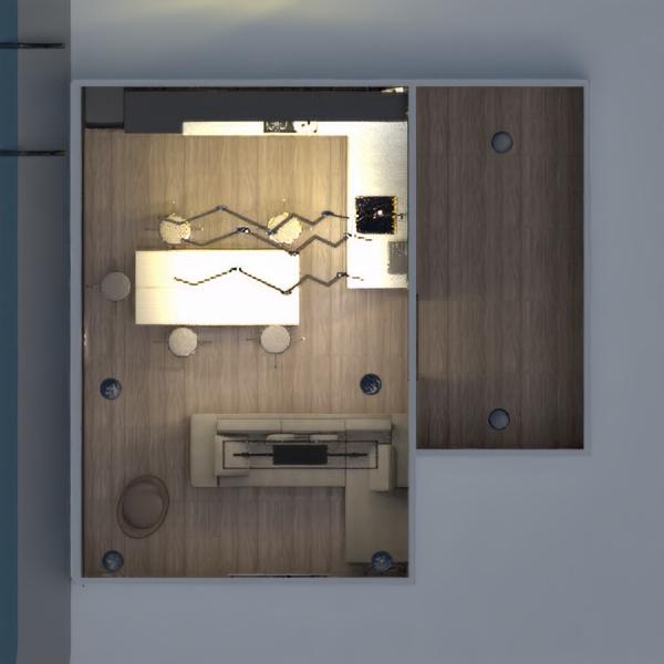 floorplans quarto cozinha sala de jantar estúdio 3d