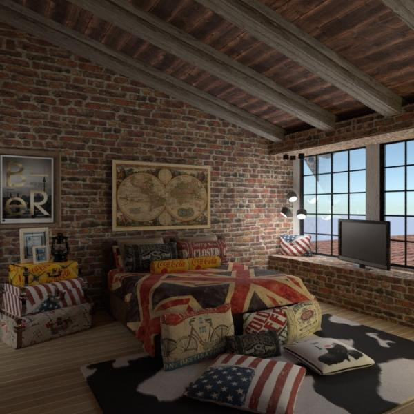 floorplans terrace bathroom bedroom kitchen 3d