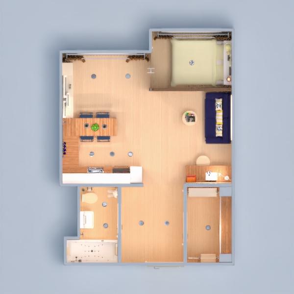 floorplans butas baldai dekoras pasidaryk pats vonia miegamasis svetainė virtuvė apšvietimas valgomasis sandėliukas studija prieškambaris 3d