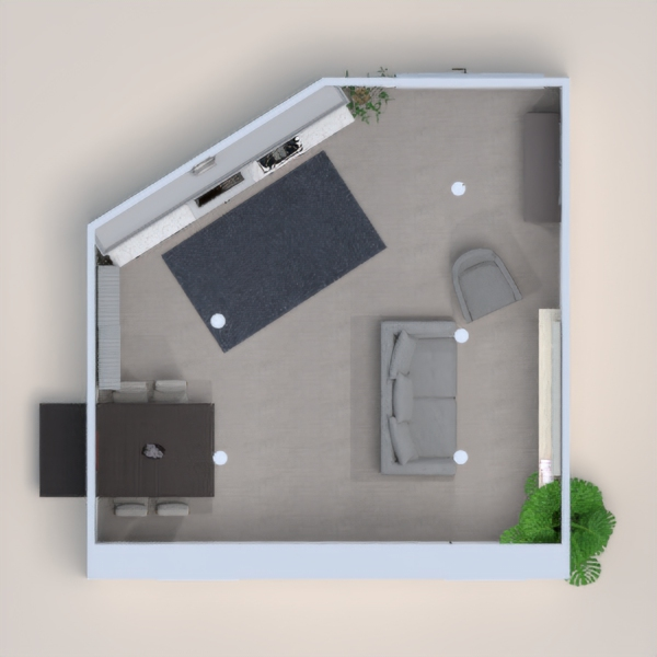 Modern themed home place