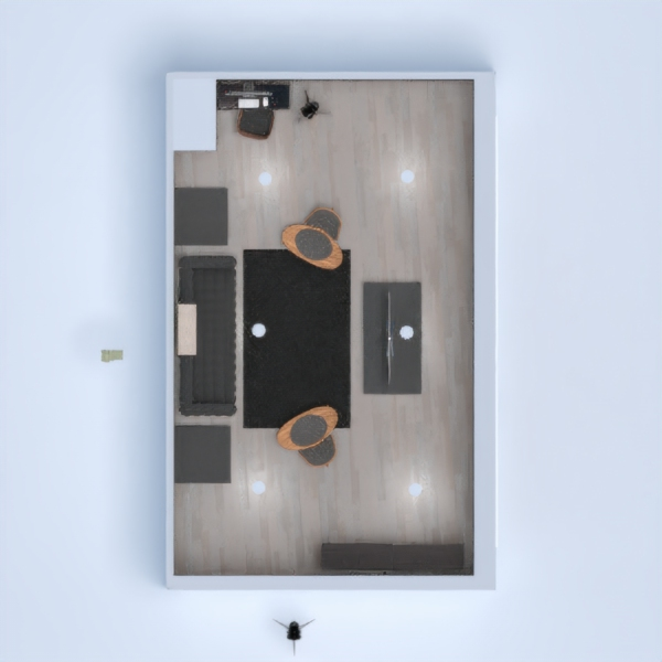 Nice modern room with laminate flooring and small desk area