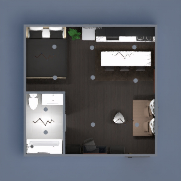 a simple floor plan that consists of brown, black and white. since yall children have so much to judge on, the door is a pull not push, and everything is the way i want it so if you don't like it or are purposely depicting