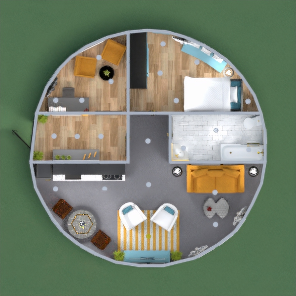 Hey Guys, This battle was a very good experience. It was quite tricky to adjust space but it was fun. So here, I got a theme of grey, blue and yellow palette with all the furnishing that a House has. I hope you all like it and please comment below your views :)