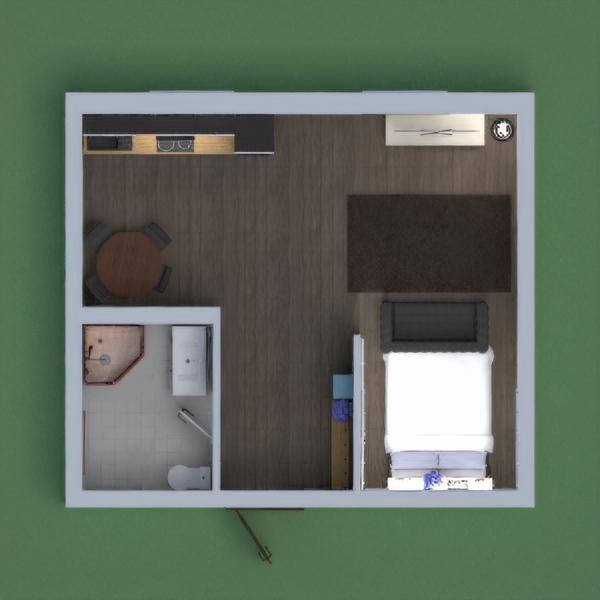 it is a small apartment