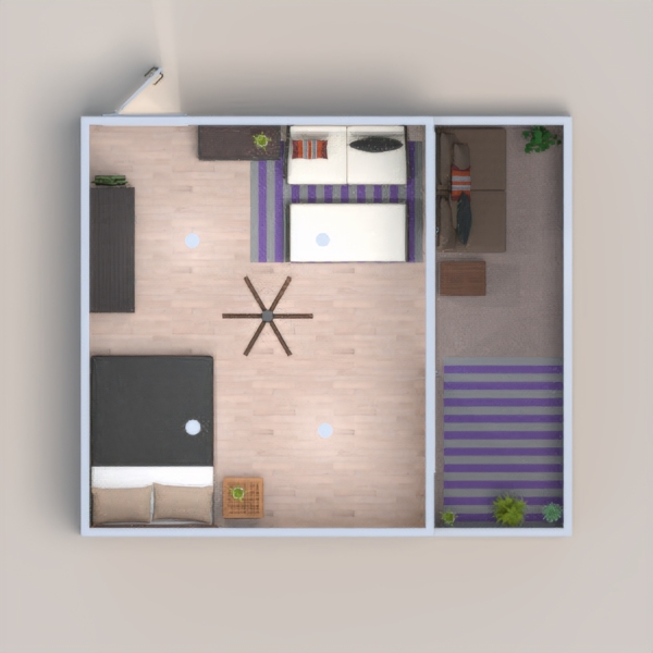 I wanted this to have a little bit of an 80s vibe but also like on the beach so I compromised with wacky wallpapers but also a lot of wood and plants. Thanks so much! -Phoebe, 11