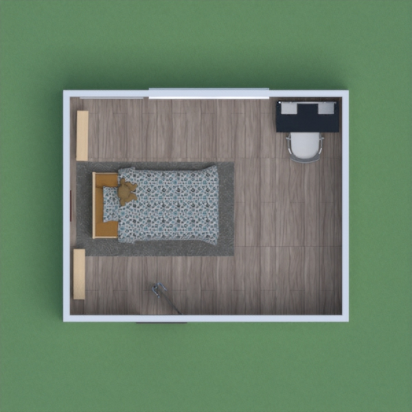 This bedroom is meant to bring a feel of the outside world with pictures of the golden gate bride during fog and a teepee for becoming one with mother nature you should begin to feel at home as you settle in to your new home. Now hope you host love my room.  - Little Cat