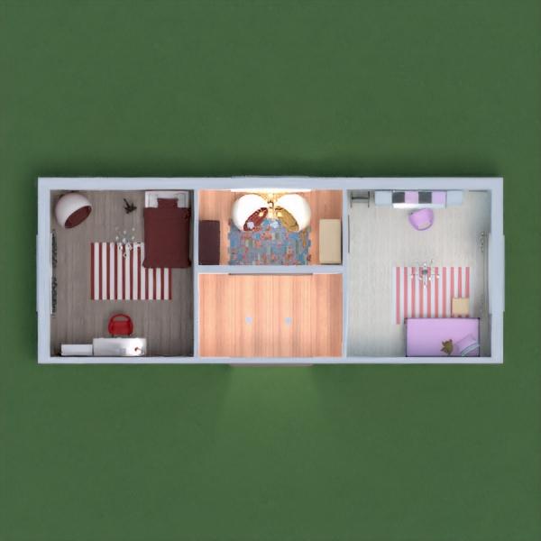 комнаты двух сестер разного характера .