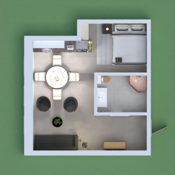 This is a modern/rustic apartment