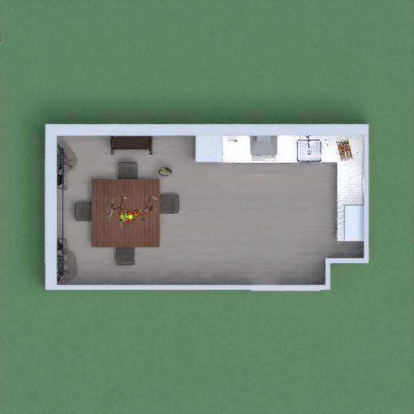 a nice dark kitchen