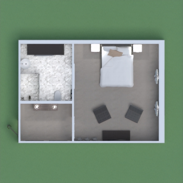 This hotel room features a sleek modern design. A modern living area allows for comfort while watching your favorite shows. This room comfortably sleeps two. A large bathroom allows for maximum use. Overall this hotel room is just as comfortable as your house.