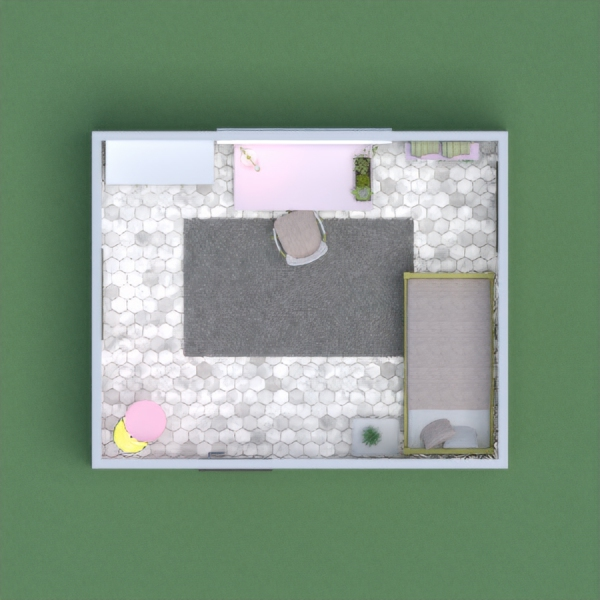 This is a clean, modern girls (or boys) bedroom. The color scheme as you can see  includes white, light pink, navy blue and