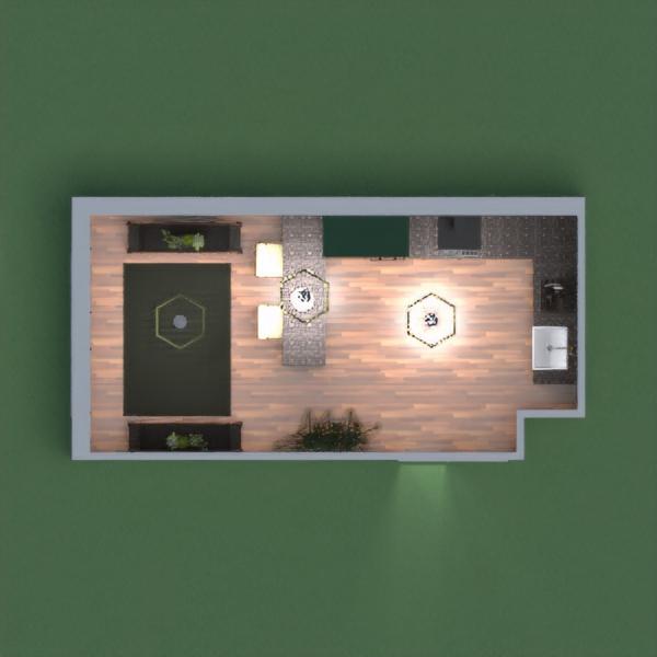 Modern Dine In Kitchen w.Exposed Brick